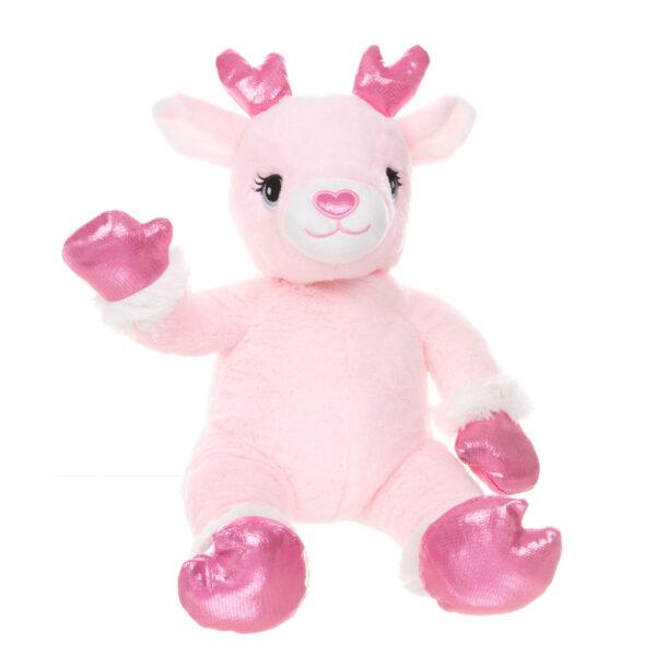 Cupid the Pink Reindeer Teddy Bear