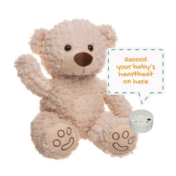 Ted the Cream Heartbeat Bear